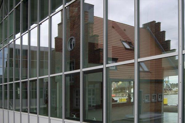 Fassade Hafenterminal, Wismar
