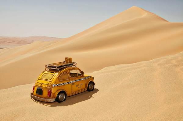 Taxi in die Liwa-Wüste, Vereinigte Arabische Emirate