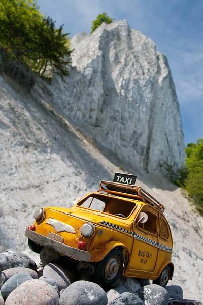 Taxi zum Königsstuhl, Rügen, Deutschland