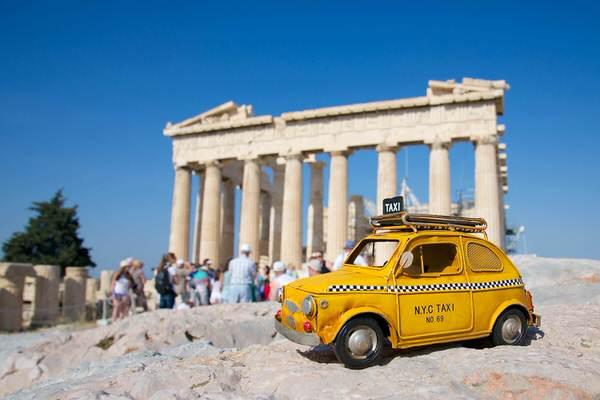 Taxi zur Akropolis, Athen, Griechenland