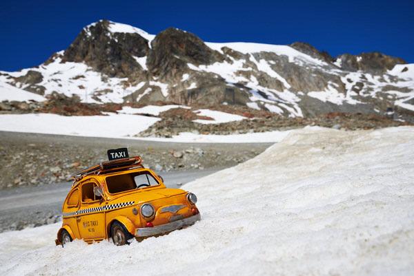 Taxi zum Tiefenbachgletscher, Sölden, Österreich