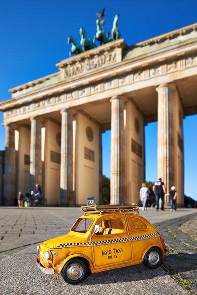 Taxi zum Brandenburger Tor, Berlin, Deutschland