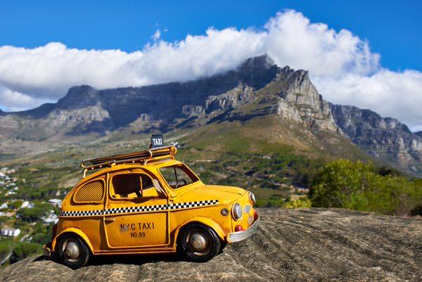 Taxi zum Tafelberg, Kapstadt, Südafrika