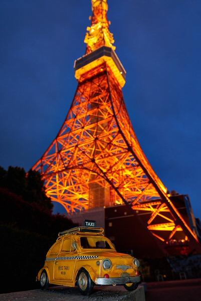 Taxi zum Tokio-Tower, Tokio, Japan