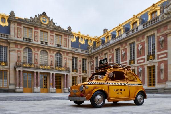 Taxi zum Schloss Versailles, Frankreich