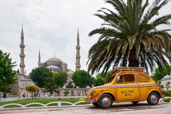 Taxi zur Blauen Moschee, Istanbul, Türkei