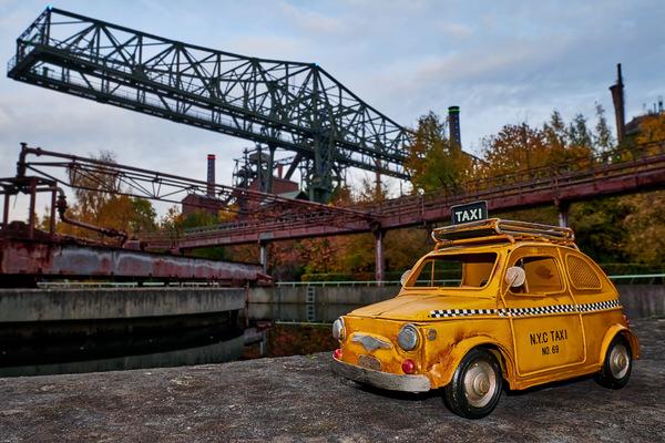 Taxi zum Landschaftspark, Duisburg, Deutschland
