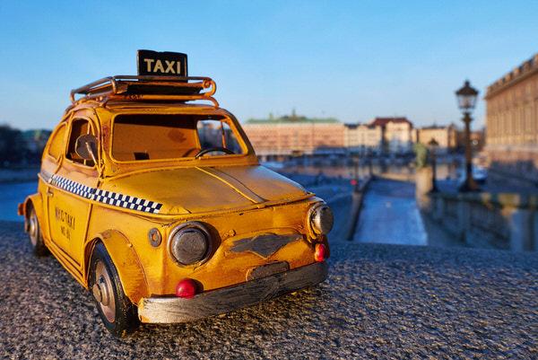 Taxi zum Stockholmer Schloss, Stockholm, Schweden