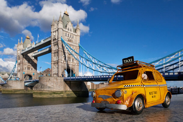 "Taxi zur ""Tower Bridge"", London, England"