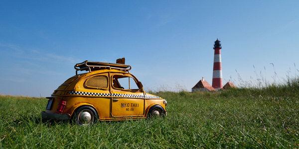 Taxi zum Westerhever Leuchtturm, Deutschland