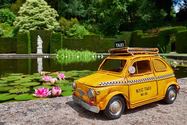Taxi zum Knightshayes Court, Devon, Großbritannien