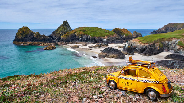 Taxi zur Kynance Cove, Cornwall, Großbritannien