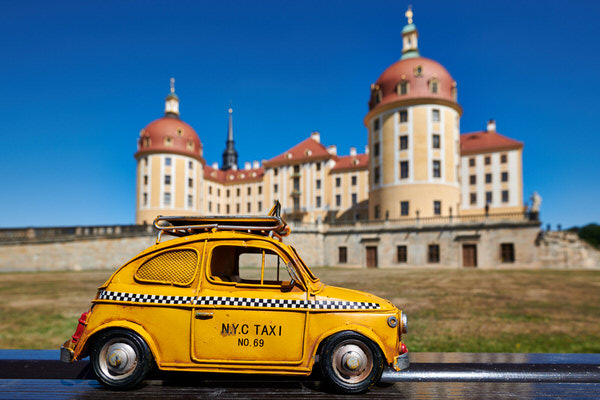 Taxi zur Moritzburg, Moritzburg, Deutschland