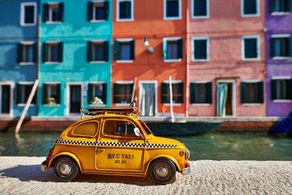 Taxi zur Insel Burano, Venedig, Italien