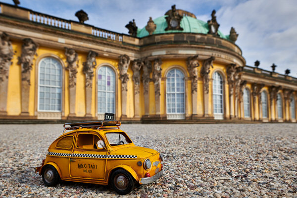 Taxi zum Schloss Sanssouci, Potsdam, Deutschland